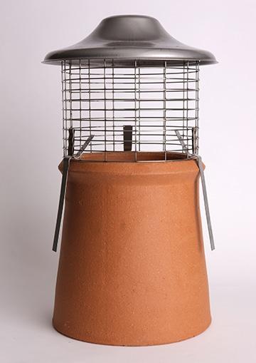Euro Topguard 2 Birdguard on a chimney pot, natural