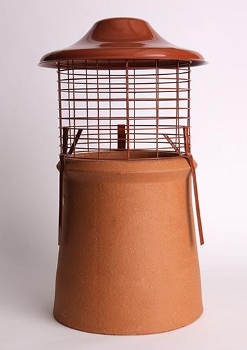 Euro Topguard 2 Birdguard on a chimney pot, sienna