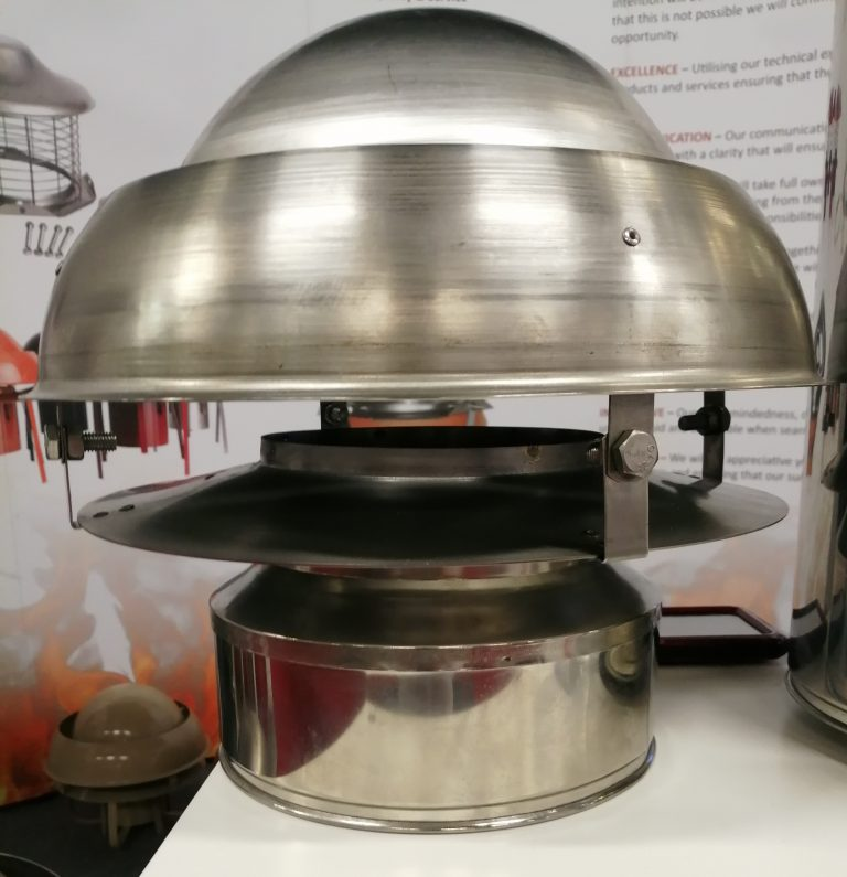 Mini Eurocowl anti-downdraught chimney cowl on Stovax Twinwall