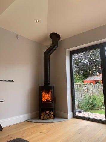 Wood burning stove ledds case study