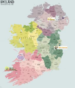 Map showing where to get our chimney cowl products in Ireland